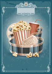 Cinema vintage background