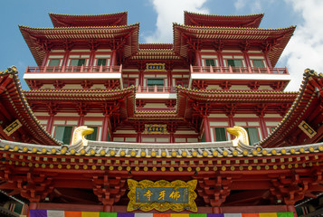 Bright Buddha Tooth Temple in Singapore