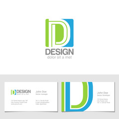 Corporate Logo D Letter company vector design. Logotype