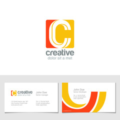 Corporate Logo C Letter company vector design. Logotype