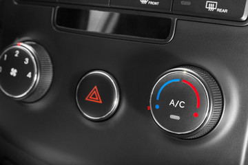 Air - conditioner in the car.