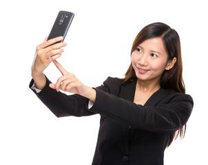 Asian female selfie