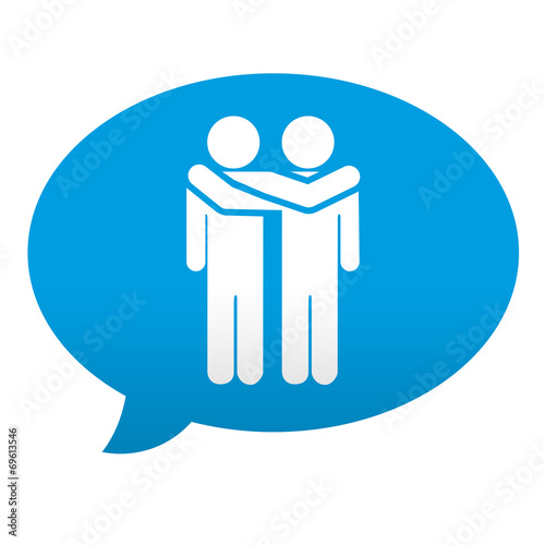 Etiqueta Tipo App Azul Comentario Simbolo Amistad Stock Photo And