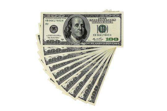 Money - USD -  One Thousand Dollars - isolated object