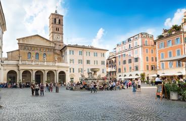 Foto op Plexiglas Rome Basilica di Santa Maria in Trastevere, Rome. Italy