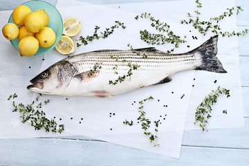 Striped Bass Dinner
