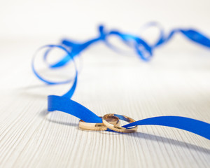 Family relationship concept two rings tied together
