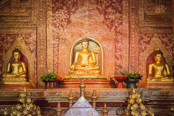 """Phra Sihing Buddha"" in the temple  Chiang Mai, Thailand"