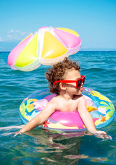 Child enjoy in the summer time
