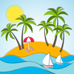 Vector illustration of a summer vacation