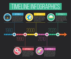 Vector Timeline Infographics 03
