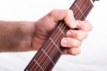 Bendig technique performed on acoustic guitar