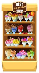 Ice cream shop,
