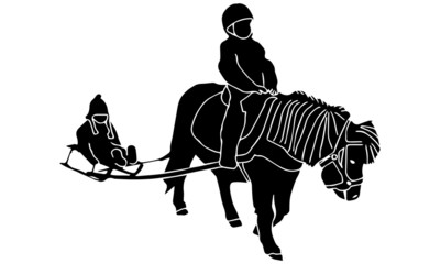 Poney luge - Pony sled ride