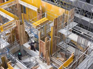 Fototapete - マンションの建設工事