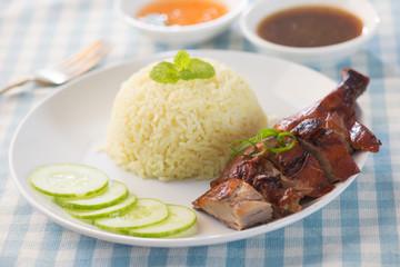 asian roast duck rice