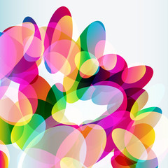 Abstract colorful  background made of transparent elements.