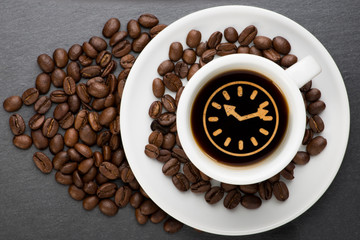 Cup of coffee with time