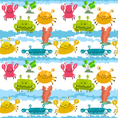 pattern with crabs