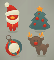 vector collection of Christmas icons and emblems