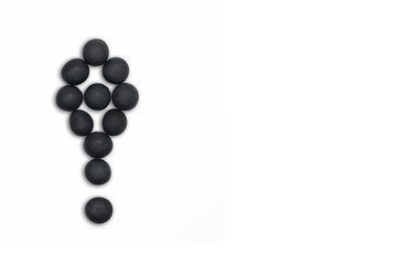 Black pebble exclamation sign