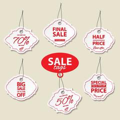 Sale label tags set.