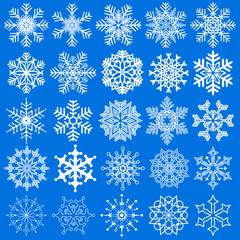 Snowflakes set for Christmas and New Year design