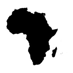 Illustration on isolated background of the continent of Africa