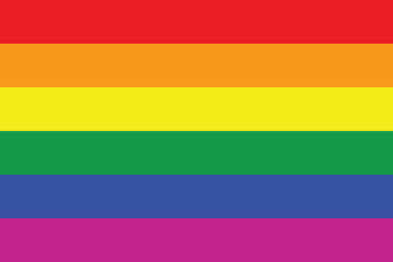 Illustration of Gay flag or LGBT flag sign isolated. Gay culture