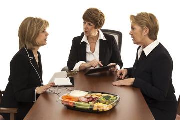 Three Business Women Having Lunch