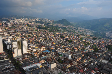 City view from the Cathedral's top, Manizales, Colombia
