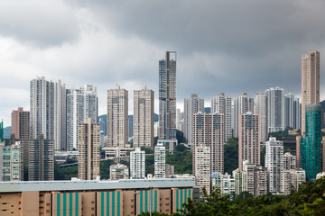 View of high rises from Hong Kong Park