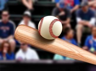 Baseball Bat Hitting Ball