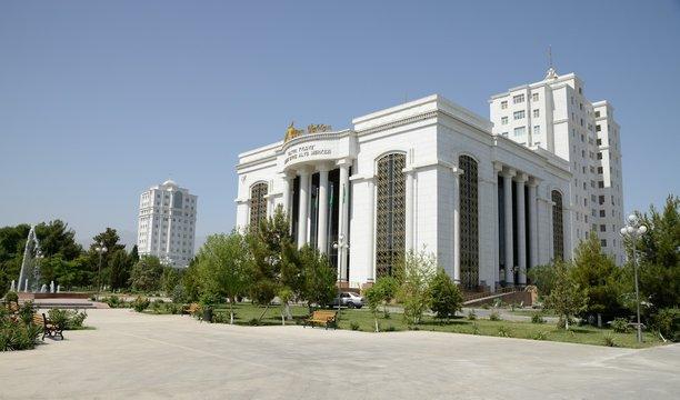 Marble buildings of Ashgabat (capital of Turkmenistan).