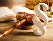 Judge gavel, Paragraph sign symbol