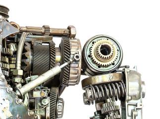 Grunge machine isolated