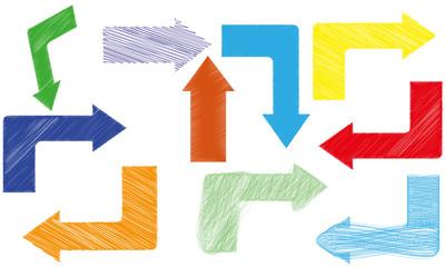 abstract color arrows vector