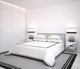 Modern bedroom.