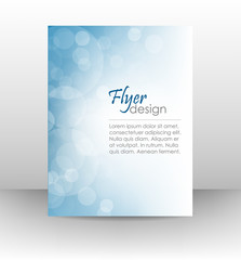 Business flyer template, corporate banner with shiny effect