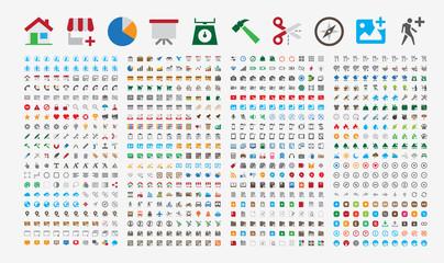 800 Premium Icons. Round corners. Flat colors. Pixel Perfect.