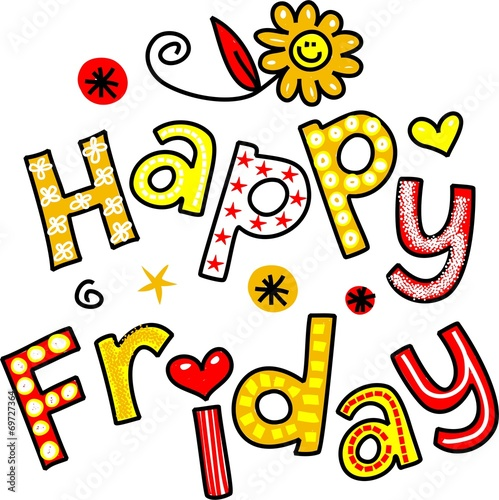 Happy Friday Cartoon Text Clipart Stock Photo And Royalty Free