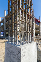 cement prop in  building construct site