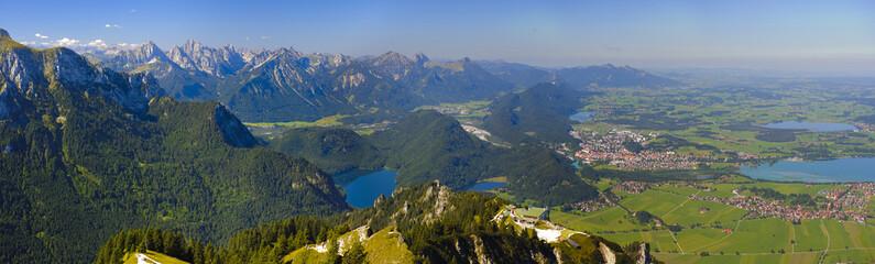 Wall Mural - Panorama Landschaft in Bayern im Allgäu