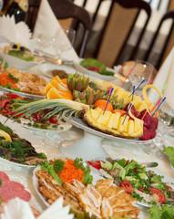 Banquet festive food