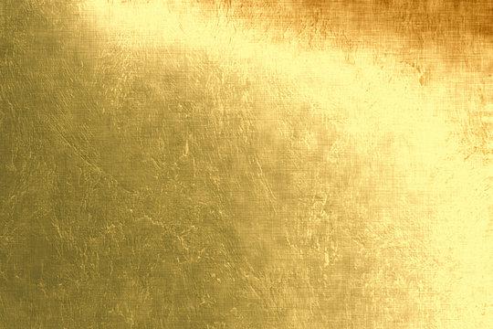 Gold metallic background, linen texture