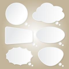 Paper Bubbles Speech Idea on Background