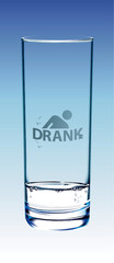 """Drank"" symbol on the glass"