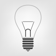 Light bulb icon in the background, symbol for design