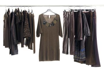 Autumn/winter clothes rack Display