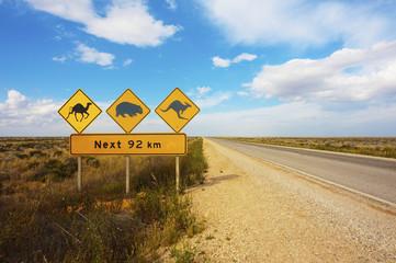 Australian Animals Road Sign